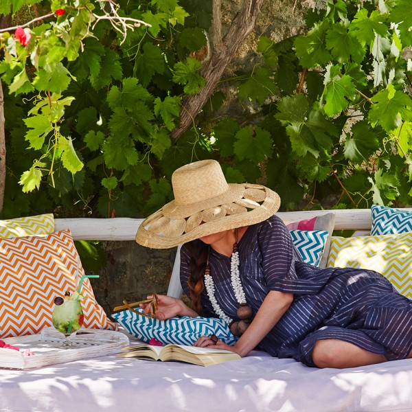 Hippie Chic Hotel facilities include gardens, which are an ideal spot for relaxing with a book