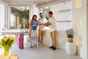 Personalised services at Hippie Chic Hotel in Mykonos includes a warm welcome from staff on arrival