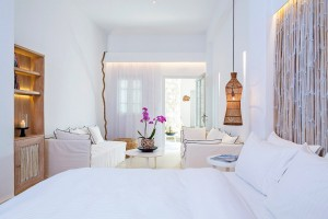 Guests can relax & unwind on twin sofas in the Hippie Chic Hotel Classic Room, or on the large bed